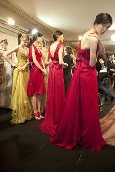 Elie Saab at Couture Spring 2011 (Backstage) Elie Saab Couture, Elie Saab Spring, Bridesmaid Dresses, Wedding Dresses, Bridesmaids, Spring Couture, Spring Collection, Couture Fashion, Backstage