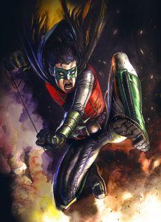Robin (Damian Wayne) by Rudy Ao