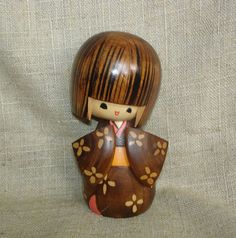 Vintage Wooden Wood Kokeshi