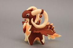 Dragon-ram soft toy by hontor.deviantart.com on @deviantART