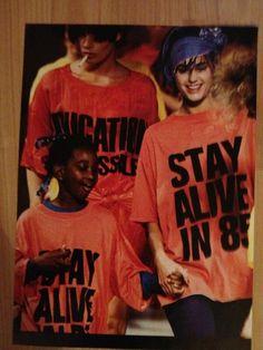 Stay Alive in 85 - Katharine Hamnett catwalk show, styled by Caroline Baker