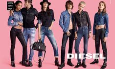Here is the brand new Diesel Fall Winter 2016 ad campaign. Check out the brand new denim and jeans from the Italian denim brand. Fashion Advertising, Advertising Campaign, Advertising Design, Denim Branding, Fashion Branding, Diesel Brand, Six Models, Diesel Fashion, Editorial