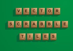 The type can be edited easily. It uses Arial font. Scrabble Tiles, Art Images, Vector Art, Alphabet, Clip Art, Templates, Type, Crafts, Art Pictures