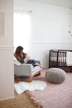 "Blogger says, ""The Stokke Sleepi Crib is sort of a dream crib of mine. Since I was a little girl i've dreamed of having a oval crib for my babies and this is so beautifully designed and functional. This crib grow as the baby does and can go up to 10 years old!"" @SmallFryBlog"