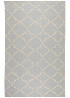 Frontier Pale Blue Hand Woven Wool Rug SUFT40 Layla Grayce (reasonably priced)