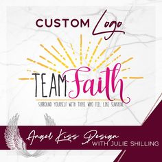 Custom Sunshine Logo for Team Faith & Totes Full of Sunshine with Mary Payne Sunshine Logo, Angel Kisses, Personal Logo, Marketing Materials, Business Logo, Custom Logos, Totes, Mary, Faith