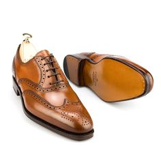 Men's oxford shoes in cognac cordovan