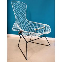 Bertoia Bird Chair now featured on Fab.  Originally designed in 1952 by Harry Bertoia, the famously futuristic Bird Chair is sculpted from bent metal rods. This model, manufactured by Knoll International in the 1960s, features a white seat and a black base. It's chic, comfortable, and a truly iconic design.$1,599
