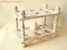 Antique wooden 2 storey egg tray, egg holder, egg storage, egg dish, French…