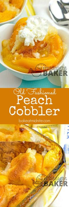 Have this old-fashioned peach cobbler year round because it uses canned peaches!