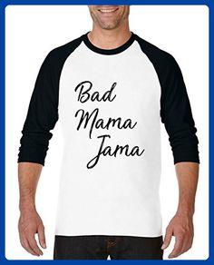 Ugo Bad Mama Jama Carl Carlton African Afro American Song Gift 4 Halloween Xmas Birthday Unisex Raglan Sleeve Baseball T-Shirt - Holiday and seasonal shirts (*Amazon Partner-Link)