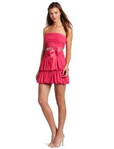 My Michelle Juniors Draped Dress
