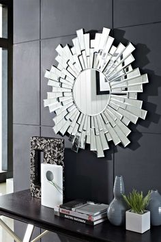 Linked Wall Mirror - Silver