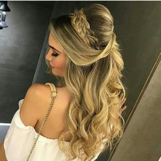 Pin by Faith York on Prom in 2018 Pin by Faith York on Prom in 2018 Wedding Hair And Makeup, Bridal Hair, Hair Makeup, Glam Makeup, Open Hairstyles, Bride Hairstyles, Engagement Hairstyles, Prom Hair Updo, Pinterest Hair