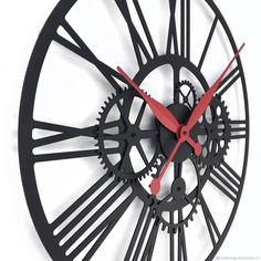 """Часы для дома ручной работы. Часы настенные 45см """"Kaiku-2 S"""". KODUMAJA Kuus. Ярмарка Мастеров. Часы в подарок"""