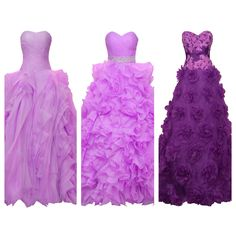 Pantone 2014 radiant orchid, ball gowns  Alexei Bridal