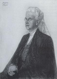 Jan Toorop, Koningin-moeder Emma - 1923