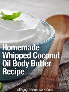 Homemade Whipped Coconut Oil Body Butter Recipe /                              …