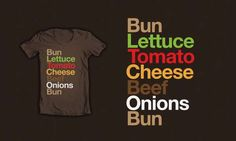 Burgervetica is a Typographic Cheeseburger #typography #helvetica trendhunter.com