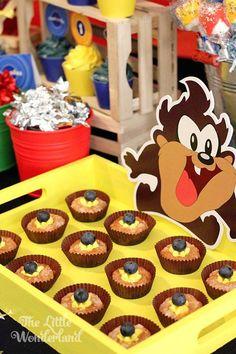 Looney Tunes Tazmanian Devil themed birthday party via Kara's Party Ideas KarasPartyIdeas.com #looneytunestazmaniandevilparty (9)