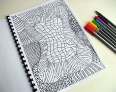 Printable Coloring Page Zentangle Inspired Abstract by JoArtyJo