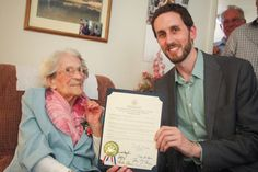 Celebrating the 100th birthday of a beautiful constituent.