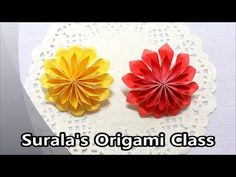 Surala's Origami Class Origami - Dahlia, Flower, Mum 종이접기 - 달리아, 다알리아, 꽃, 국화 Paper crafts, Paper arts, DIY, Paper folding, Folding paper, 折纸, pliage du papie...