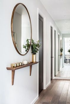 Small Entryway Solution Small Entryway Solution Just Because You Don T Have A Grand Foyer Or Entryway Doesn T Mean You Can T Create A Charming Nook To Greet Your Guests Upon Arrival Here Are The Steps Gordon Duft Linton Hallway Inspiration, Home Decor Inspiration, Living Room Decor, Bedroom Decor, Bedroom Wall, Flur Design, Coridor Design, Hallway Designs, Flat Ideas