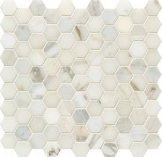 Pacific White Hexagon Mosaic SPWPHX3