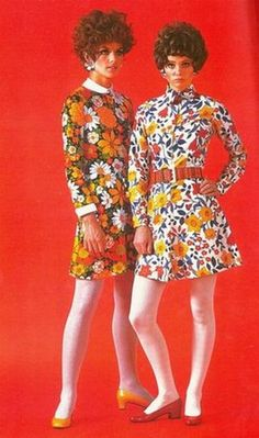 '60s floral fashions. - I LOVE these fabric designs!