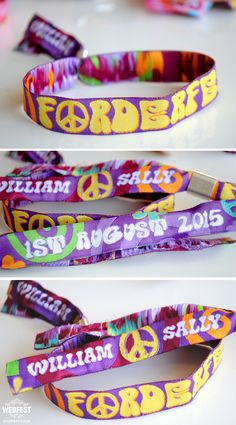 Festival Wedding Wristbands http://www.wedfest.co/custom-personalised-wristbands/