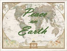 Art.com - Holiday 2015 - Peace on Earth - World Map