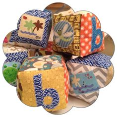 A personal favorite from my Etsy shop https://www.etsy.com/listing/159643565/baby-blocks-fabric-soft-stuffed