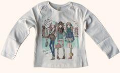 Tee-shirt fille Mayoral imprimé devant motif dans les tons vert, 3-8 ans