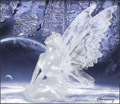 Fairy Ice sculpture #fairies #fairy #Fée