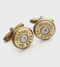 .45 Caliber Bullet Cufflinks by Release Me Design on Scoutmob Shoppe