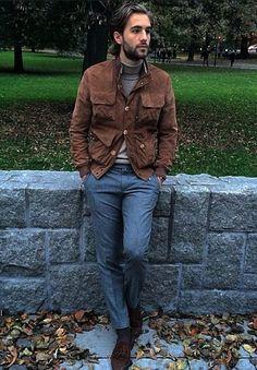 Minimal Fashion, Timeless Fashion, Stylish Men, Men Casual, Suit Fashion, Mens Fashion, Winter Outfits Men, Brown Fashion, Gentleman Style