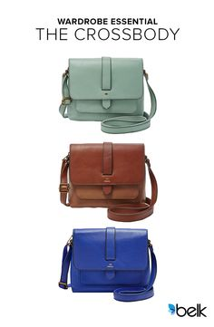 Wherever your summer travels take you, having a quality, lightweight purse is a must. The Fossil® Kinley Small Crossbody delivers in every way that matters. It's a casual mini, but its soft leather still packs plenty of pretty. You've come to expect greatness from Fossil, and you won't be disappointed, whether you get the Kinley in blue, green, brown or black. Shop for it now at Belk.com.