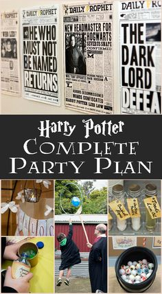 Hold the ultimate Harry Potter Party without all the stress of planning. Harry Potter Complete Party Plan Instant Digital Download #ad #harrypotterfan #party #potterhead #birthdayparty #digitaldownload #etsy