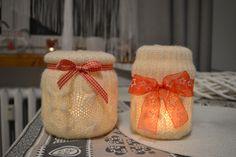 Wełniane świeczniki.  Wool lanterns