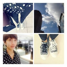 Black and white  Shirt- banana republic Shoes- converse with marimekko