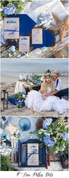 Beautiful Romantic Beach wedding stationery - eco, natural, blue ! #weddingideas #sea #seaside #weddings #blue #beach #coastal #weddingstationery #weddingcards #inspiration #sand