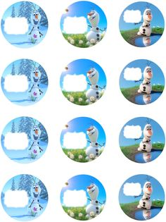 FREE printable labels for Frozen Birthay Party Favors