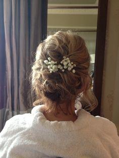 Pretty flowers in hair