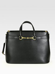 #Gucci Bright Bit Large Leather Tote #Saks.com