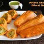 Potato Stuffed Mirchi Bajji | Milagai Bajji | Banana Pepper Fritters