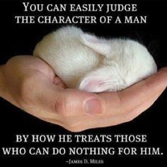 """you can easily judge the character of a man by how he treats those who can do nothing for him"""