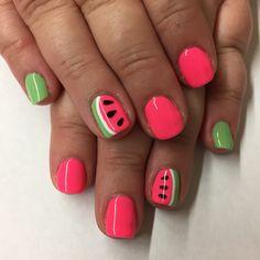 #mynails #summernails #watermelonnails #mynailperson>yournailperson