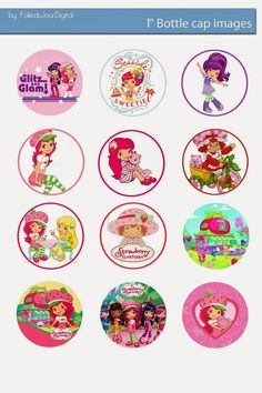 I& sharing free digital bottle cap images I created Bottle Top Crafts, Animal Templates, Fancy Bows, Strawberry Shortcake Party, Bottle Cap Art, Bottle Cap Images, Circle Shape, Disney Crafts, Coloring Book Pages