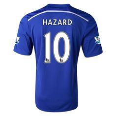 New Hazard 10 Chelsea Home Soccer Men Jersey 2014/15 - Men